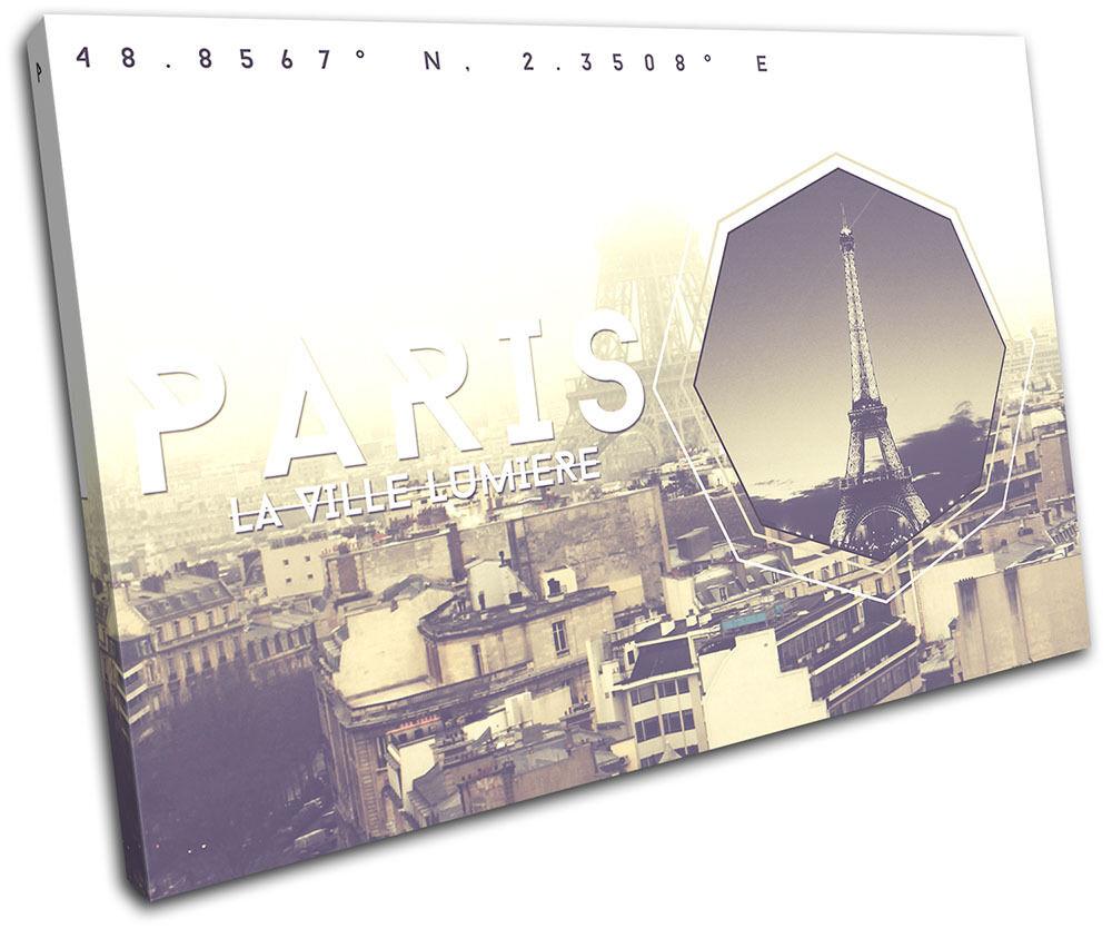Paris Typography City SINGLE SINGLE SINGLE TELA parete arte foto stampa 7cbac3