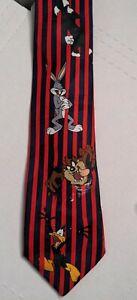 Vintage Looney Tunes Novelty Neck Tie Necktie Bugs Taz Sylvester Daffy 1995