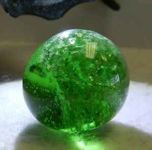 12393m Very Nice Mint Shooter Sized German Shrunken Mica Marble .91 In