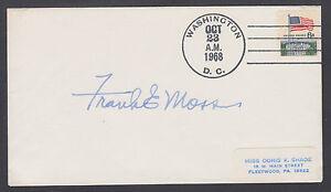 Frank E. Moss, US Senator from Utah, signed 1968 Cover