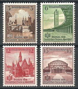 DR-Nazi-3rd-Reich-Rare-WW2-WWII-WK2-Stamp-Swastika-Hering-Stadium-Architecture