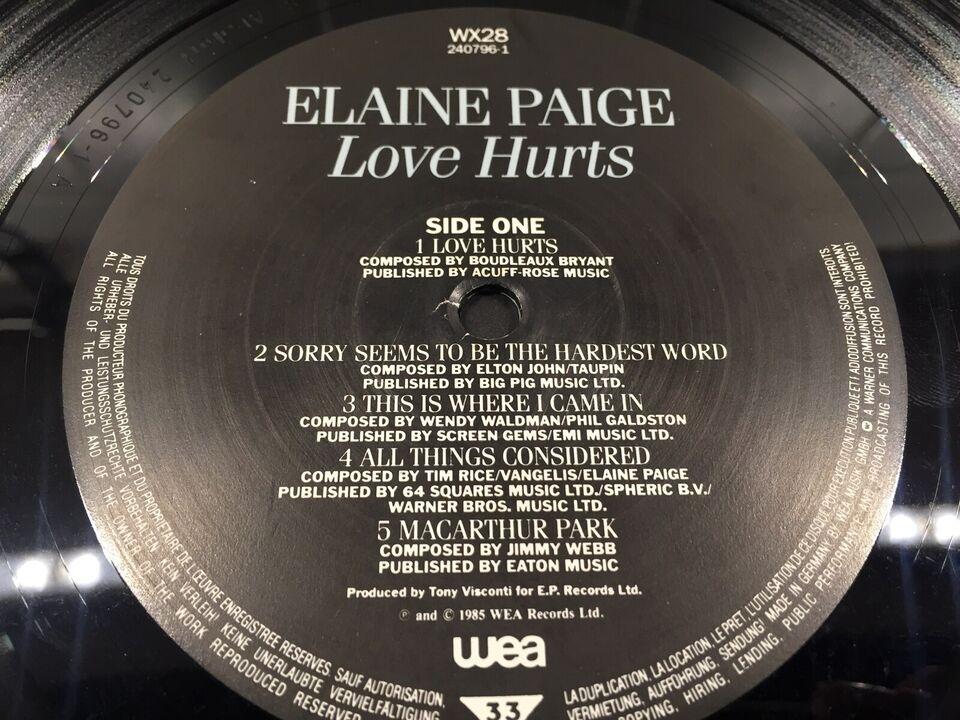 LP, Elaine Paige, Love Hurts
