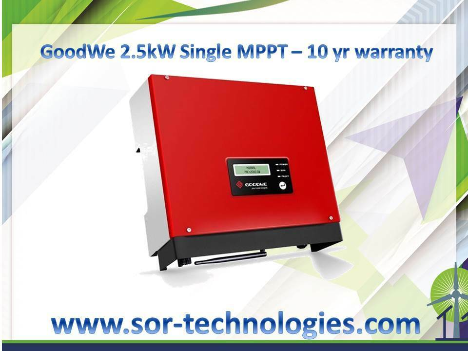 Goodwe 2.5kW Single MPPT - RS485 cheap solar inverter with 10 Year Warranty