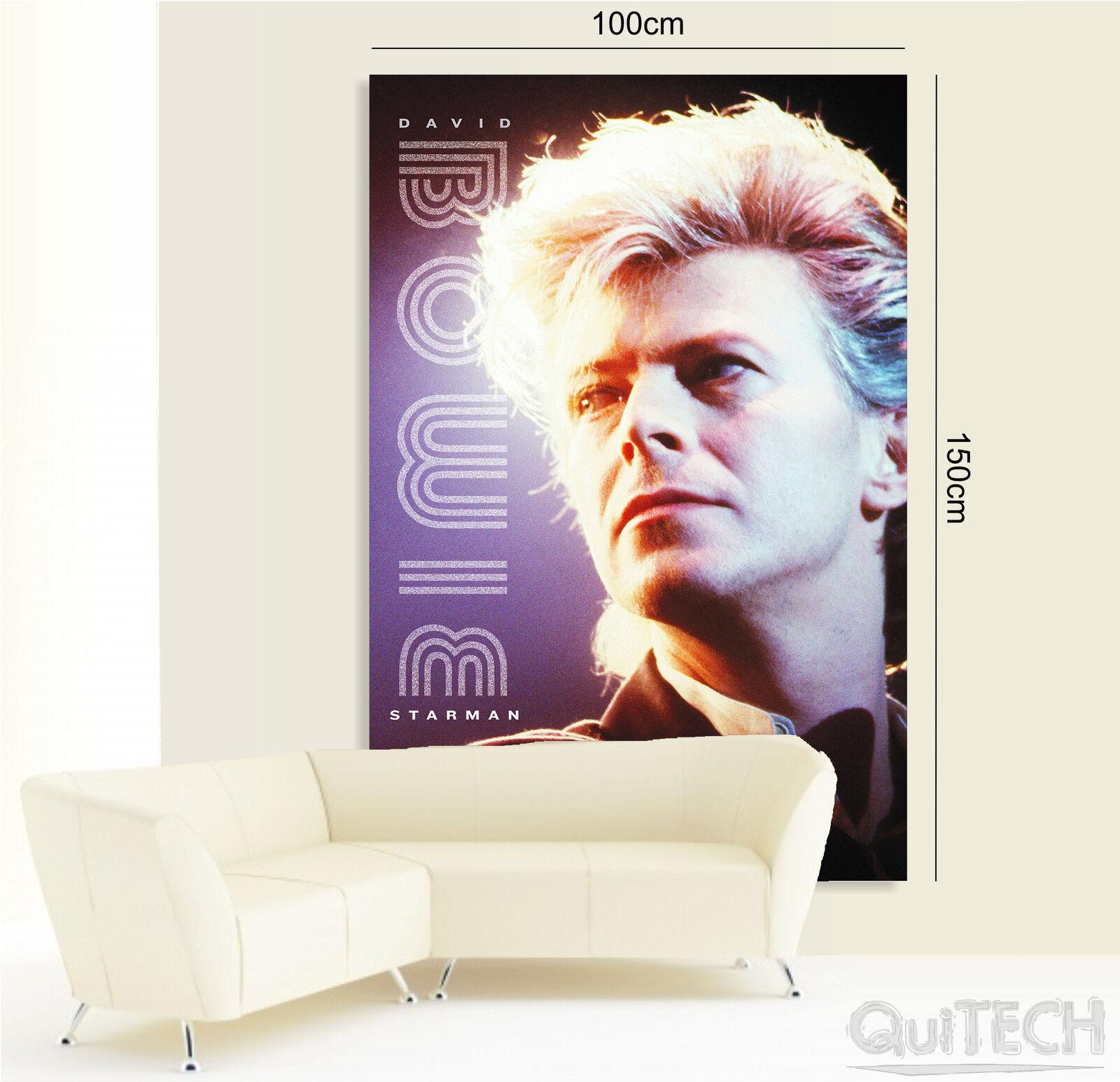 David Bowie - - - 2 - Quadro stampa su Tela Pelle Canvas Dipinto Arte Moderna fe78ee