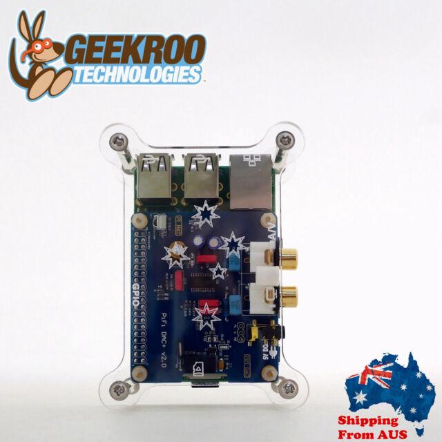 HiFi DAC+ Sound Card + Acrylic Case Kit for Raspberry Pi 2B B+|2S|Audio|From AU