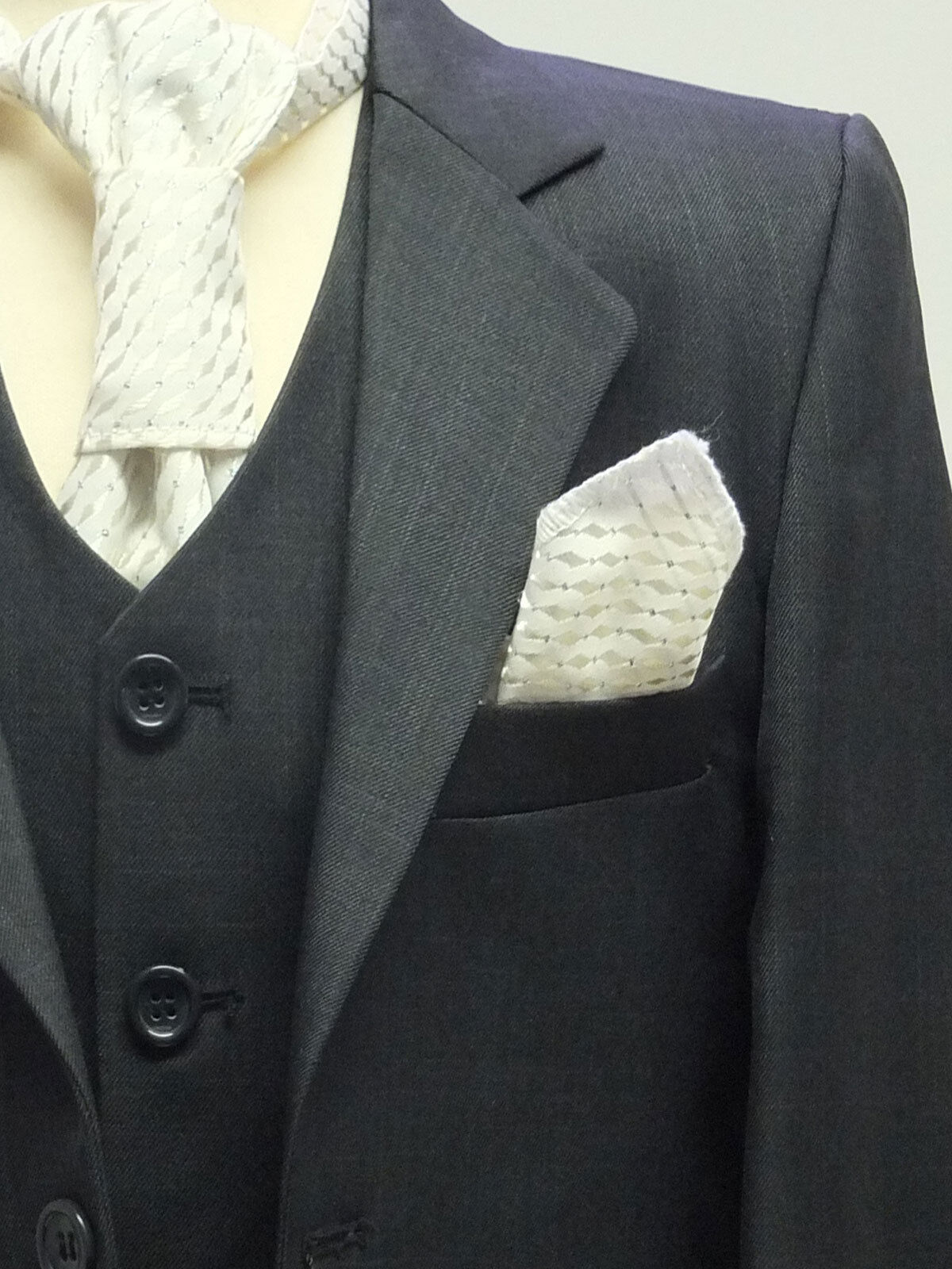 Page Boys Suit In Charcoal Black Italian Design Dinner