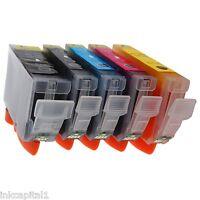 5 x Canon CHIPPED Tintenpatronen Kompatibel Für Drucker MX860
