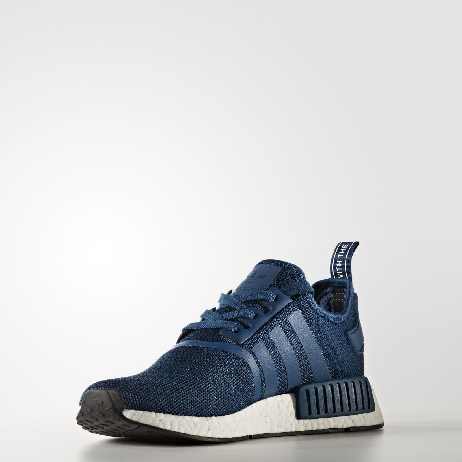 Adidas NMD R1 Nomad Runner Blue Night White Brand New Men Size 5 13 (BY3016)