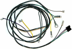 1955 corvette engine wiring harness new reproduction auto transmission only