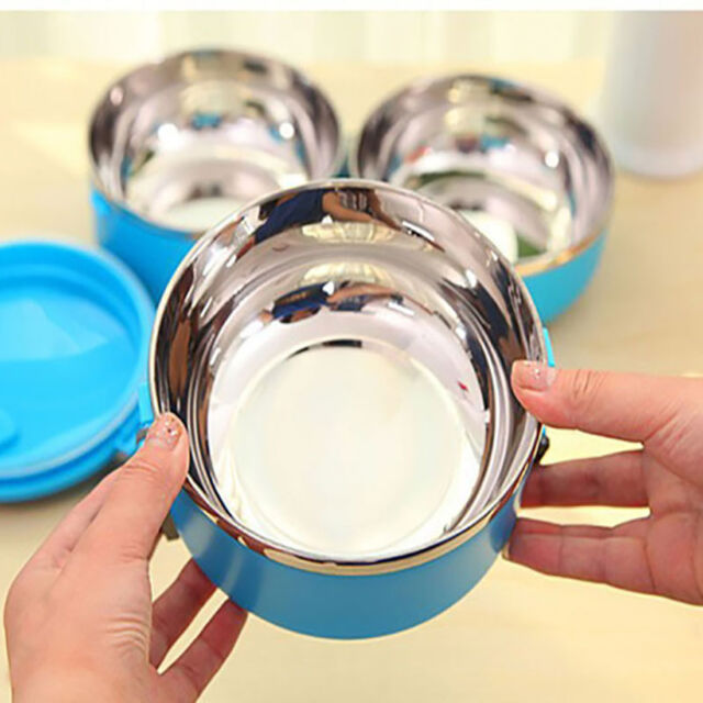Stainless Steel Bento Lunch Box Food Container Lunchbox Portable