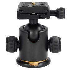 12Kg Swivel Camera Tripod Ball Head+Quick Release Plate Photo Video Studio US