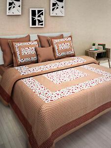 Image Is Loading Rajasthani Handmade New Design Comfort Cotton Bed Sheet