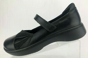 Naot-Mary-Janes-Adriatic-Black-Leather-Round-Comfort-Walking-Shoes-Womens-41-10