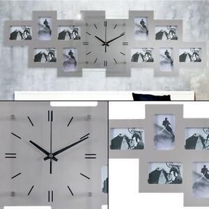 Wanduhr 10 Bilderrahmen Foto Deko 80 Cm Wohnzimmer Buro Kuchen Uhr
