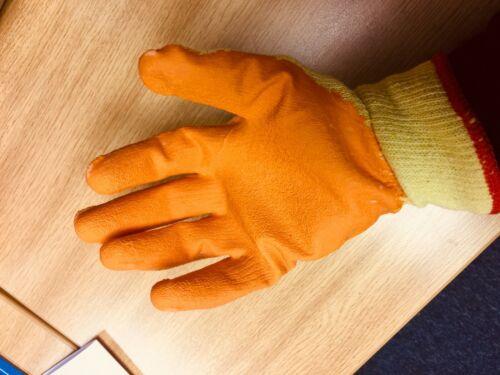 5 Pairs XL Rubber Safety Builders Gloves Mens Gripper Gardening DIY Work Gloves