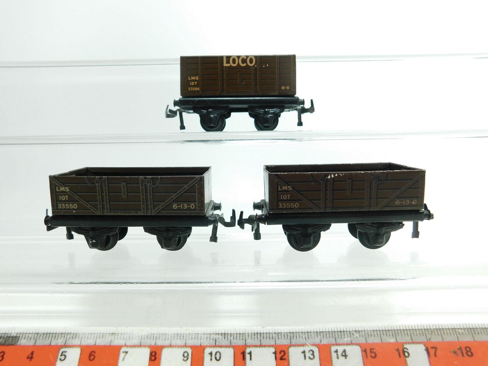 Bi629-0, 5  3x TTR TRIX TWIN RAILWAYS h0 dc Plate-Freight Cars  33550 + 53084 LOCO