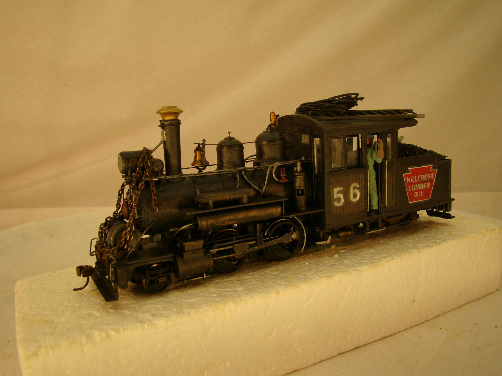 On30 Forney Logging Steam Locomotive - custom weatherosso - DCC and Sound