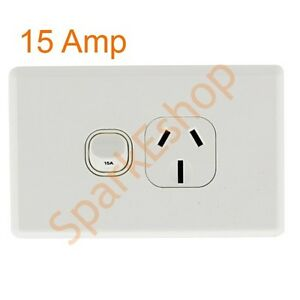 15-Amp-Single-Power-Point-Aust-Approved-Box-of-9-3-30-per-GPO-Free-postage