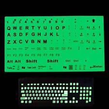 English Us Keyboard Fluorescent Sticker Large Black Letter For Computer Laptomx