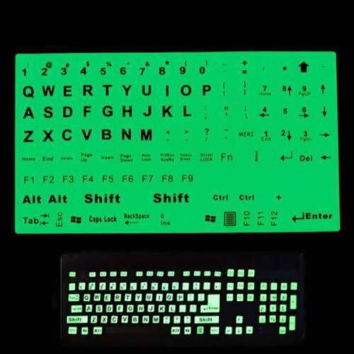 English US Keyboard Fluorescent Sticker Large Letters for Computer Laptop P/_WK