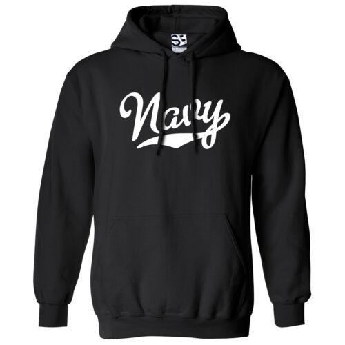 All Colors Navy Script /& Tail HOODIE Hooded USA US Military Team Sweatshirt