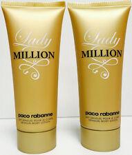LADY MILLION BY PACO RABANNE WOMEN 3.4 OZ SENSUAL BODY LOTION NEW UNBOX 2 TUBES!