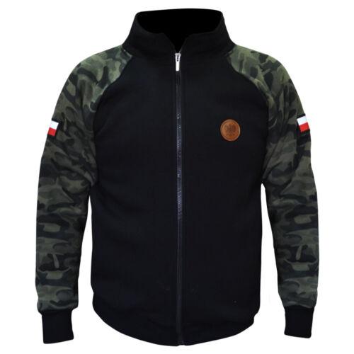 Sweatshirt ZIP Bluza Patriotic Eagle Poland Hooligans Eagle Camo Polen Moro