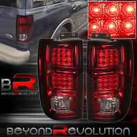 Led Tail Lights Chrome Housing Red Smoke For 97 98 99 00 01 02 Ford Expedition on sale