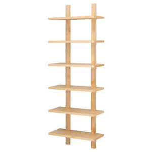 IKEA-VARDE-Wandregal-massive-Birke-klarer-Acryllack-50x140cm-Kuechenregal-Regal