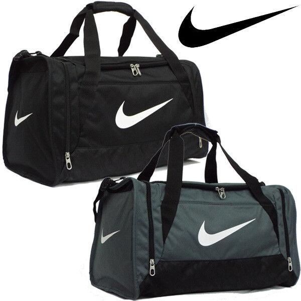 a419e6269255 Nike Duffle Sports Team Gym Bag Holdall Travel Kit Bags Small Medium  Official