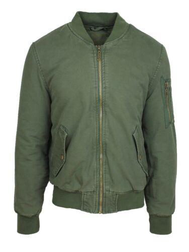 Giubbotto giacca uomo casual verde militare parka giubbino in cotone da S a 3XL