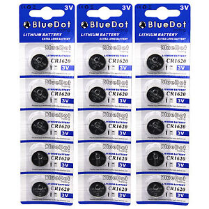 15 CR1620 CR 1620 DL1620 BR1620 3 Volt Button Cell Lithium Battery USA US Ship