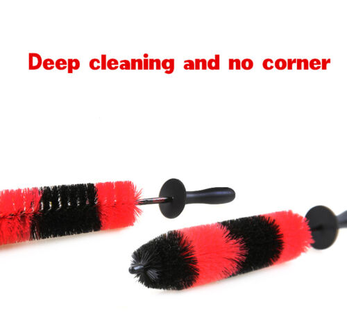 17/'/' Car Wash Brush Engine Grille Wheel Brush Auto Cleaning Detailing Tool