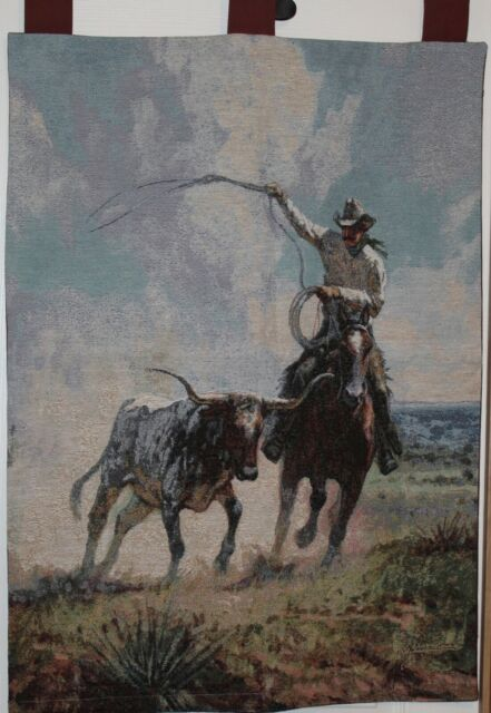 Wall Tapestry Ropin A Wild One Martin Grelle 26 X 36 Ebay