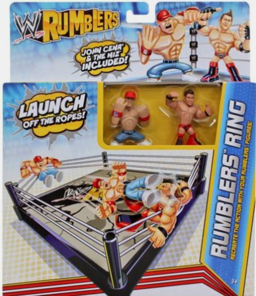 WWE Rumblers Ring Playset w John Cena & The Miz Figures New Factory Sealed 2011