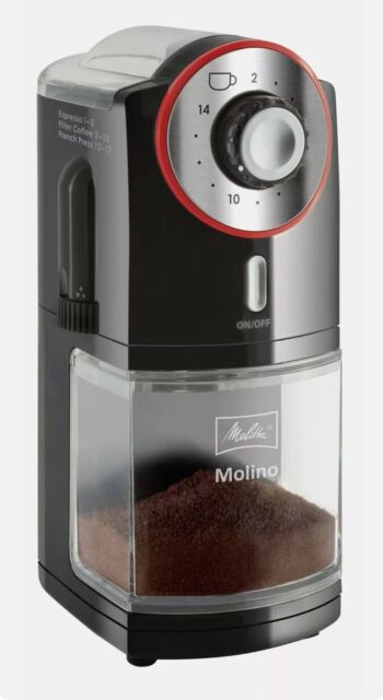 Melitta Molino Coffee Grinder, 1019-01, Electric Coffee Grinder, 17 settings