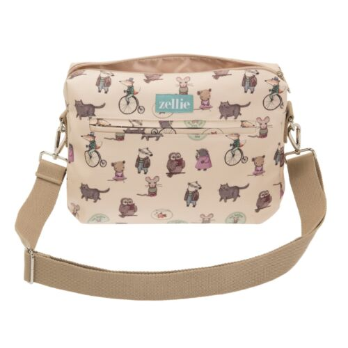 Woodland Animal Design Travel Nappy Pouch Small Baby Changing Bag