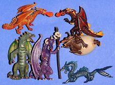Dragón Dragon Fantasy #2 6 x Plastoy tubo