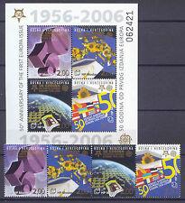 50 Jahre Europamarken, Cept - Bosnien - 166-169, Bl.7 ** MNH 2006