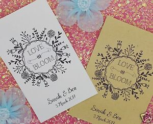 Seed Envelopes/ Packets Wedding Favour, Envelopes With Wildflower Seeds