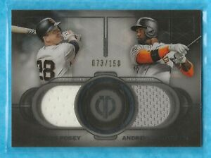 BUSTER-POSEY-ANDREW-McCUTCHEN-2019-Topps-Tribute-Dual-Player-Relics-DRPMC