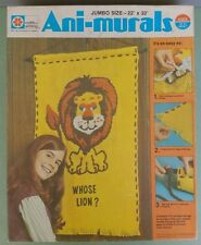 """Crafts by Whiting Ani-Murals Kit 1305-1 """"WHOSE LION? Jumbo Size 22"""" X 32"""" 1973"""