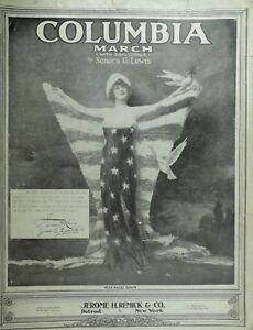 Details about 1916 WWI Patriotic Miss Hazel Dawn Sheet Music