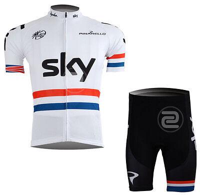 Mens Bike Cycling Uniforms Jersey Shorts Kits Short Sleeve Sweater Pad Pants Set