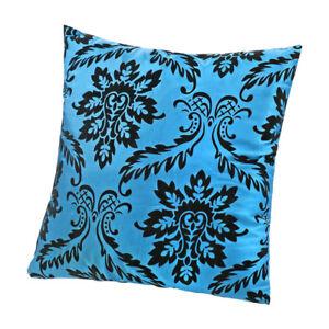 Housse-de-coussin-carre-Taie-d-039-oreiller-pour-Sofa-lit-voiture-Maison-Bleu-C3C4