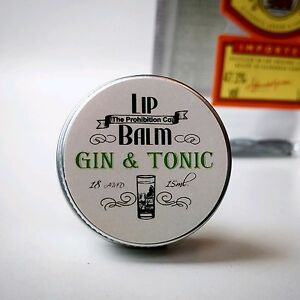 Gin and Tonic Lip Balm, G&T Lip Repair by Prohibtion Co.  3439242335873