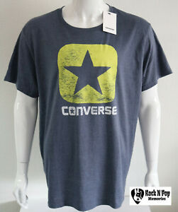 486423b775ec Mens Converse Graphic Tee One Star Logo Gray Light Green Short ...