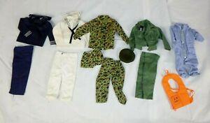 Lot of 12 Pcs Vtg 60s GI Joe Clone Military Uniforms Navy Marines Hong Kong Tags