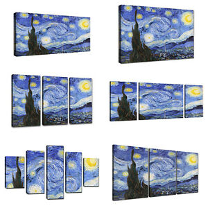 Quadri-Moderni-XXL-Van-Gogh-La-Notte-Stellata-Quadro-Moderno-stampa-su-tela-Arte