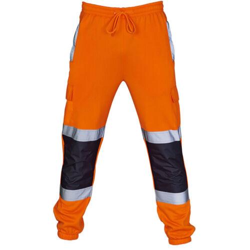 Herren Hi Vis Warnschutz Jogginghose Reflektierend Arbeitskleidung Trainingshose